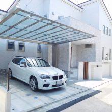 白を基調に門柱の配置がポイント NO.470の施工写真0