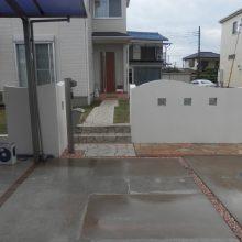 石貼りアプローチとお洒落なテラス NO.481の施工写真1