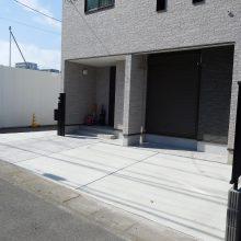 建物の回りをコンクリートで施工 NO.483の施工写真1
