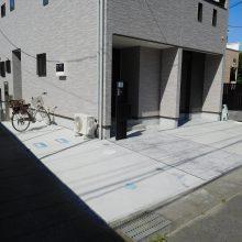 建物の回りをコンクリートで施工 NO.483の施工写真2