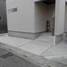 土間コンクリートで回りを施工致しました NO.492の施工写真1