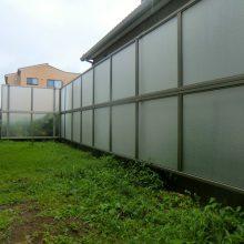半透明な目隠しフェンスで明るさは確保 NO.500の施工写真2
