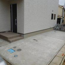 駐車場工事と機能ポール NO.494の施工写真