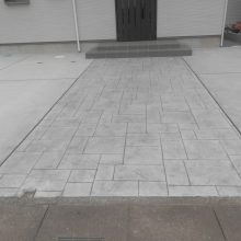 土間とスタンプコンクリート NO.508の施工写真2