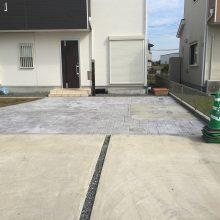 雑草防止にもスタンプコンクリート NO.510の施工写真