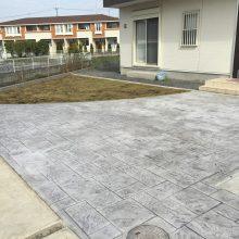 雑草防止にもスタンプコンクリート NO.510の施工写真1