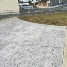 雑草防止にもスタンプコンクリート NO.510の施工写真2