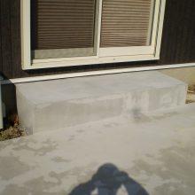 タイルデッキと土留めでお庭をリフォーム NO.523の施工写真1