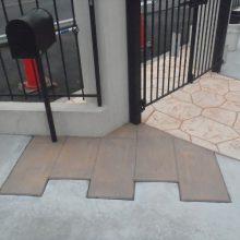洋風な家にはスタンプコンクリート NO.527の施工写真2