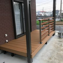 フェンス付のウッドデッキを設置いたしました NO.514の施工写真2