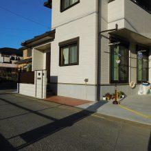 木目のスタンプコンクリートが目立ちます NO.529の施工写真1