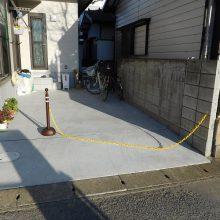 木目のスタンプコンクリートが目立ちます NO.529の施工写真2
