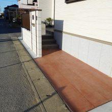 木目のスタンプコンクリートが目立ちます NO.529の施工写真3