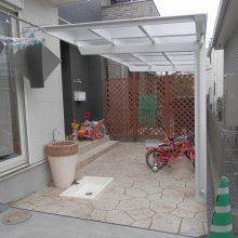 アプローチをスタンプコンクリート NO.531の施工写真