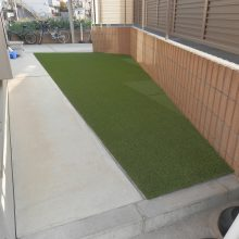 花壇をやめて人工芝へ変更  NO.530の施工写真0