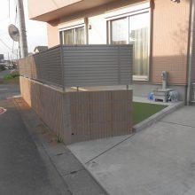 花壇をやめて人工芝へ変更  NO.530の施工写真1