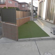 花壇をやめて人工芝へ変更  NO.530の施工写真2