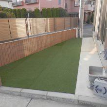 花壇をやめて人工芝へ変更  NO.530の施工写真