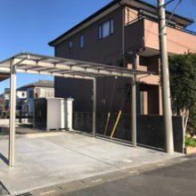 セミクローズ外構と駐車場設置 NO.532の施工写真2