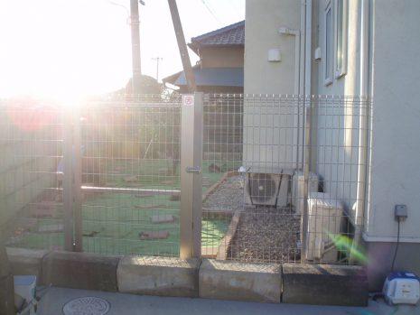 ドックラン用に塀を設置 NO.545の施工後写真1