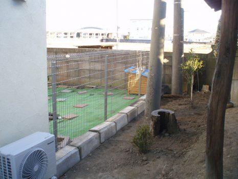 ドックラン用に塀を設置 NO.545の施工後写真2