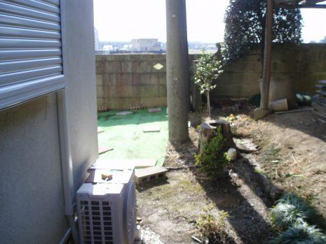 ドックラン用に塀を設置 NO.545の施工前写真2