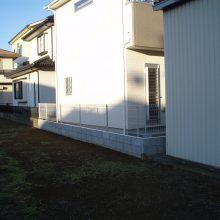 新築物件のセミクローズ外構 NO.541の施工写真2