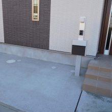 三協シャトレナのフェンス取付 NO.554の施工写真2
