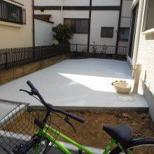 洗い出しアプローチと駐車場工事 NO.559の施工写真1