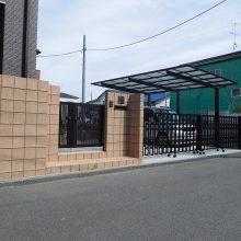 ウッドデッキとスタンプコンクリートの最強コンビ NO.575の施工写真1