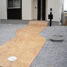 モダンな中にスタンプコンクリート NO.568の施工写真2
