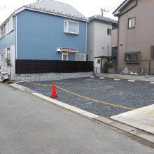 駐車場工事と境界線ブロック工事 NO.590の施工写真0