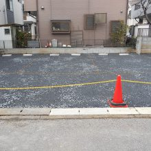 駐車場工事と境界線ブロック工事 NO.590の施工写真1