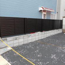 駐車場工事と境界線ブロック工事 NO.590の施工写真