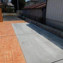 スタンプコンクリートの存在感 NO.578の施工写真1