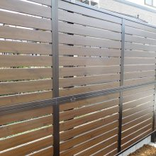 スタンプコンクリートの中に樹木を植えて NO.577の施工写真1