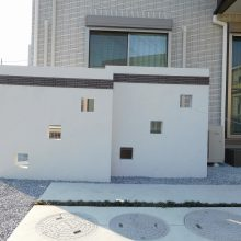 おしゃれな門塀は目隠しにも NO.589の施工写真