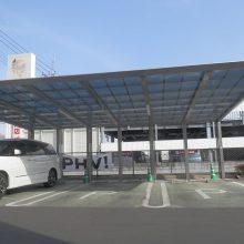 埼玉トヨタ様 四国化成トリプルカーポート NO.594の施工写真2