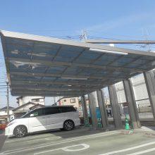 埼玉トヨタ様 四国化成トリプルカーポート NO.594の施工写真0