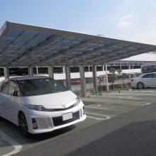 埼玉トヨタ様 四国化成トリプルカーポート NO.594の施工写真