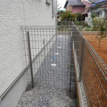 フェンスで作った愛犬の遊び場用スペース NO.598の施工写真3