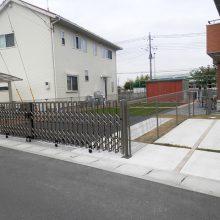 フェンスで作った愛犬の遊び場用スペース NO.598の施工写真2
