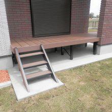 スタンプコンクリートのアプローチに合った砂利 NO.597の施工写真2