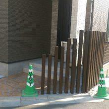 木目で統一のフェンス工事 NO.625の施工写真1