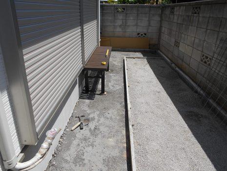 犬走りをスタンプコンクリートで NO.614の施工前写真1
