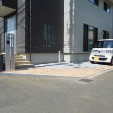 駐車場とフェンス工事 NO.638の施工写真