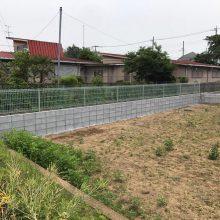 三協アルミ ユメッシュを使った塀工事 NO.627の施工写真