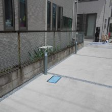 駐車場工事とスタンプコンクリート施工 NO.647の施工写真2
