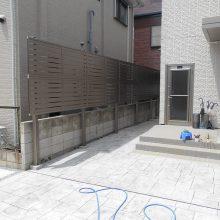 駐車場工事とスタンプコンクリート施工 NO.647の施工写真1