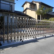 伸縮ゲートを設置 NO.661の施工写真